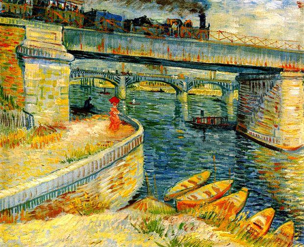 Bridges-across-the-Seine-at-Asnieres-1887