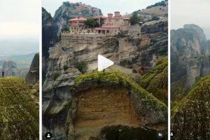 Ένα επικό Instagram βίντεο για τα επιβλητικά Μετέωρα!